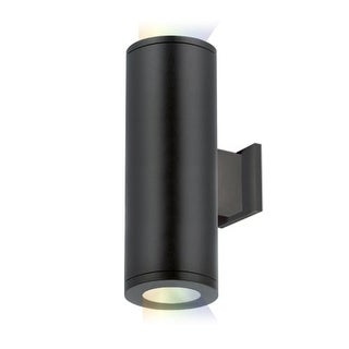 "WAC Lighting DS-WD05-FA-CC Tube Architectural ilumenight 2 Light 12-1/2"" Tall Integrated LED Outdoor Wall Sconce with Away From"