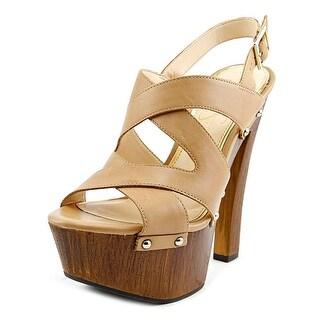 Jessica Simpson Damelo Open Toe Leather Platform Sandal