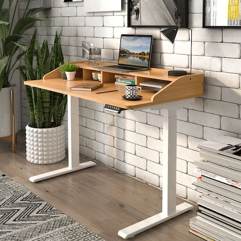 Flexispot Electric Standing Desk with Drawers 2-Tier 4 Drawers Desk Height Adjustable Sit Stand Desk UD112