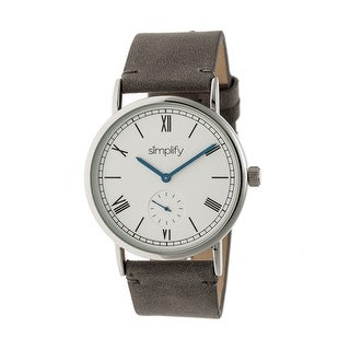 Simplify The 5100 Unisex Quartz Watch, Genuine Leather Band
