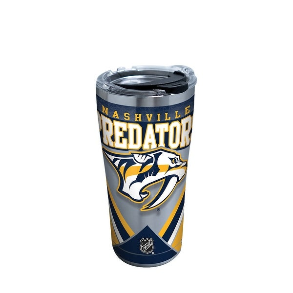 d9bb6d44f4a55 Shop NHL Nashville Predators Ice 20 oz Stainless Steel Tumbler with lid -  Free Shipping On Orders Over  45 - Overstock - 23047114