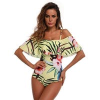 Tropical Ruffle One Piece Swimsuit