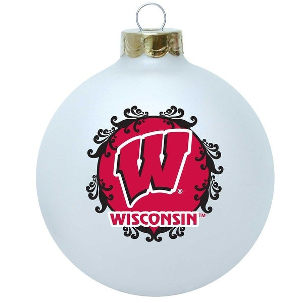 Wisconsin Badgers 3 1/4'' Collectible Christmas Tree Ornament (2012 design)