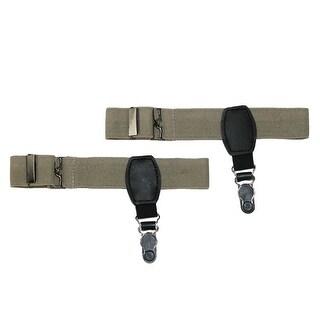 CTM® Elastic Adjustable 1 Inch Single Clip Sock Garters - One size