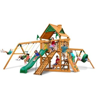 Gorilla Playsets Frontier Swing Set with Amber Posts