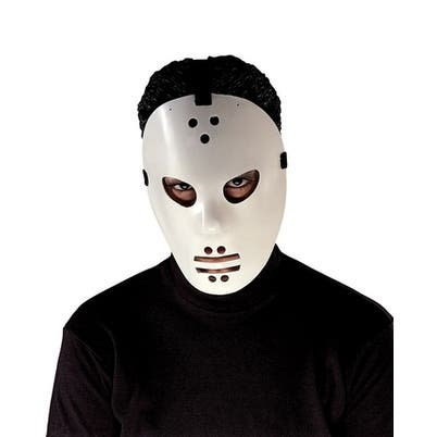 Goalie Hockey Jason Mask for Halloween Costume - Standard - One Size