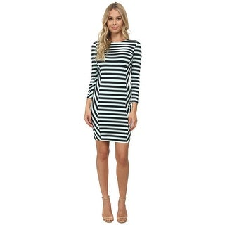 French Connection Summer Stripe Dress Long Sleeve Round Neck Bodycon (More options available)