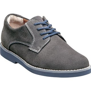 Florsheim Boys' Kearny Jr. Gray Suede with Navy Sole