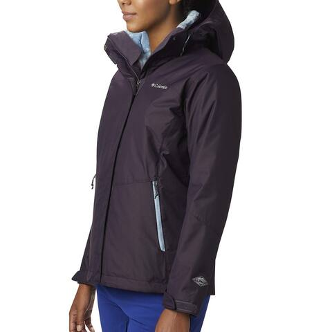 Columbia Womens Jacket Plum Purple Size Small S Fleece Waterproof