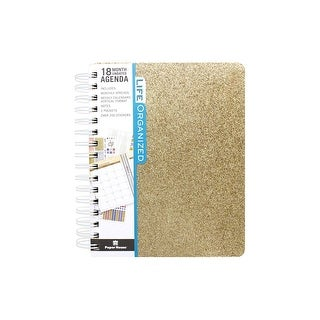 Paper House Life Org Planner 18 Month Gold Glitter