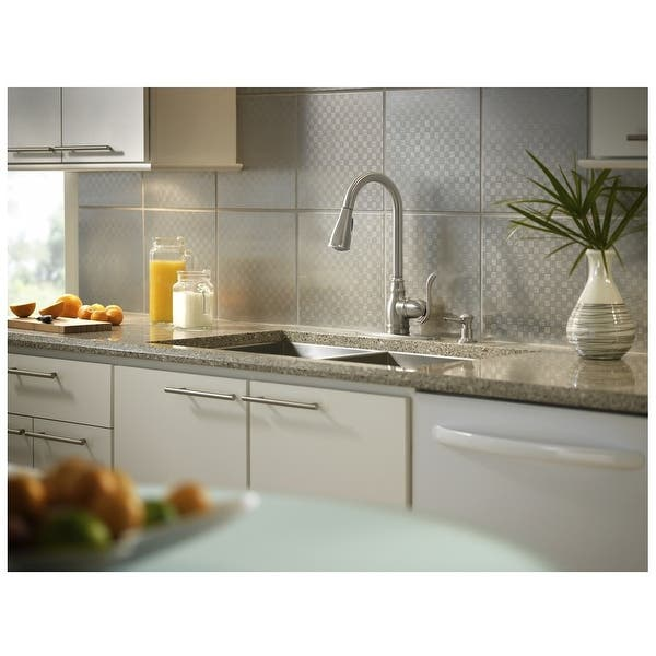 Moen CA87003SRS Anabelle Single-Handle Kitchen Faucet, Stainless Steel