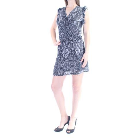 CHELSEA SKY Black Cap Sleeve Above The Knee Dress S