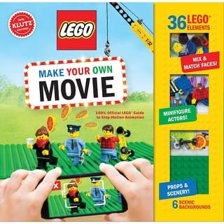 Lego Make Your Own Movie Book Kit - Stop Motion Film Guide - 80 Pages|https://ak1.ostkcdn.com/images/products/is/images/direct/6c252b32d2ca545f76aa591907d1ee801d69cd64/Children%27s-Lego-Make-Your-Own-Movie-Book-Kit---Stop-Motion-Film-Guide---80-Pages.jpg?impolicy=medium