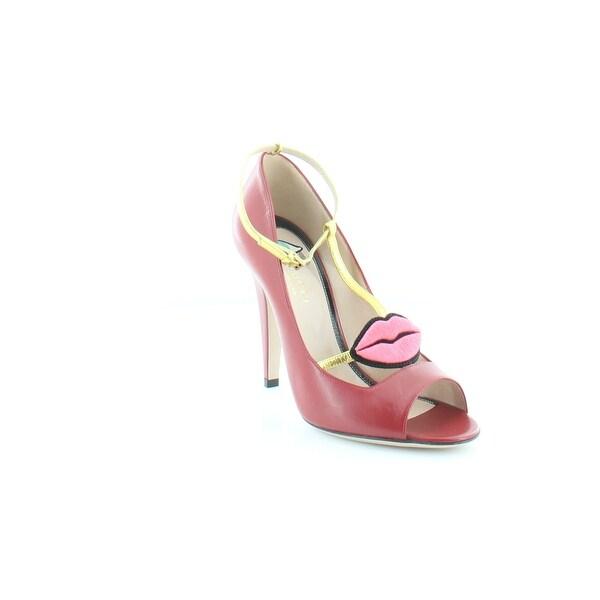 Gucci Molina Women's Heels Malaga / Red /Oro Vecchio - 7.5