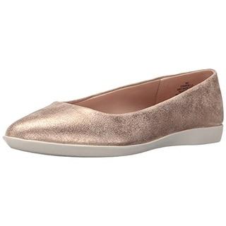 Easy Spirit Womens Madella Shimmer Slip On Flats - 7.5 wide (c,d,w)