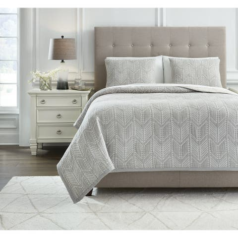 Signature Design by Ashley Jaxine Coverlet with Two Shams Set