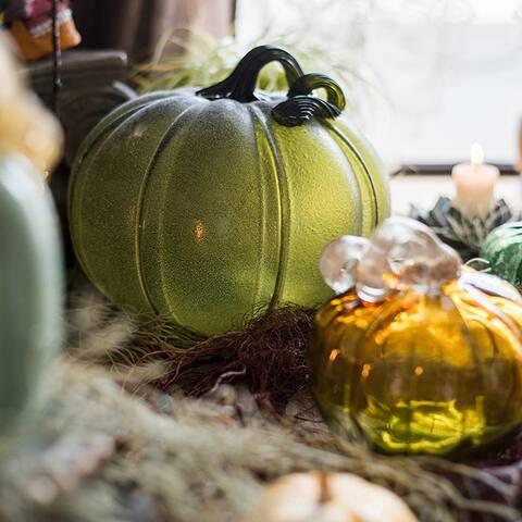 RusticReach Glass Pumpkin Accents