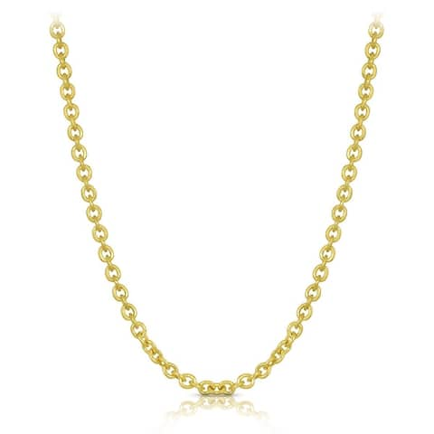 14k Yellow Gold Forsantina Lite Cable Link Chain 1.5mm