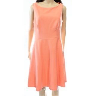 Betsey Johnson NEW Peach Orange Women Size 14 Cut-Out Back Sheath Dress