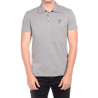 Versace Men Soft Cotton Polo Shirt Grey