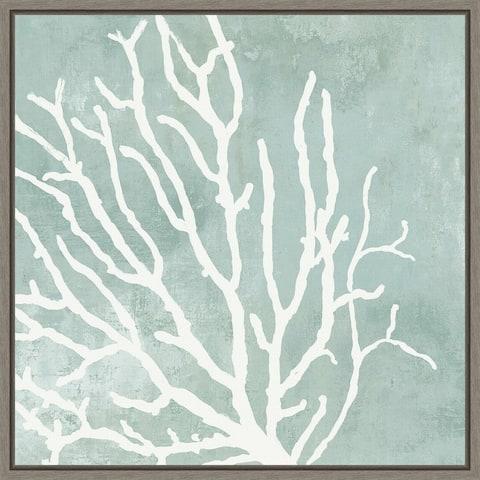 Sea Crown I (Coral) by Aimee Wilson Framed Canvas Art