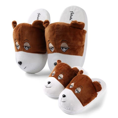 Soft Plush Animal Family Home Slippers For Dad Mom Son and Daughter