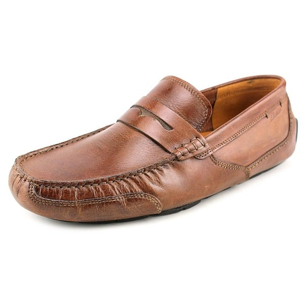 Clarks Narrative Ashmont Way Men Moc Toe Leather Brown Loafer