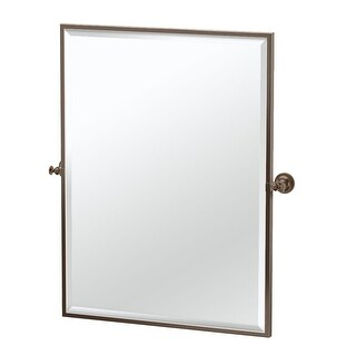 Gatco 4029FS Tavern Wall Mounted Framed Rectangle Mirror - Satin Nickel