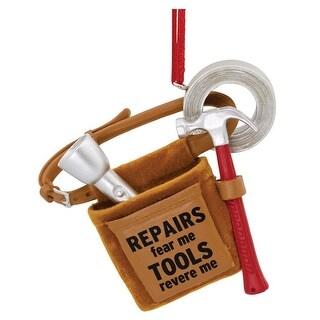 Hallmark 1HAJ1023 Mr Fix It Tool Belt Christmas Ornament, Multicolored