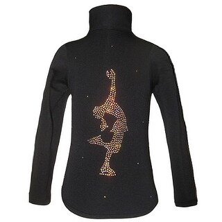 Ice Fire Skate Wear Black Layback Crystal Skate Jacket Girls 4-20 (More options available)