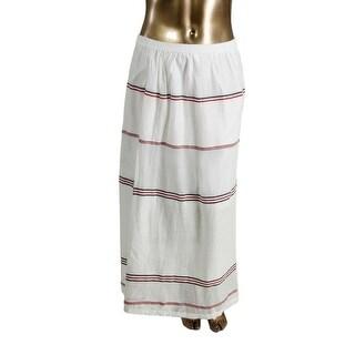 Tommy Hilfiger Womens Textured Striped Maxi Skirt - S
