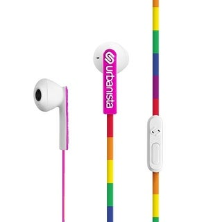 Urbanista San Francisco Ergonomic Earphones with Remote and Mic, Lucky Rainbow/Multicolor