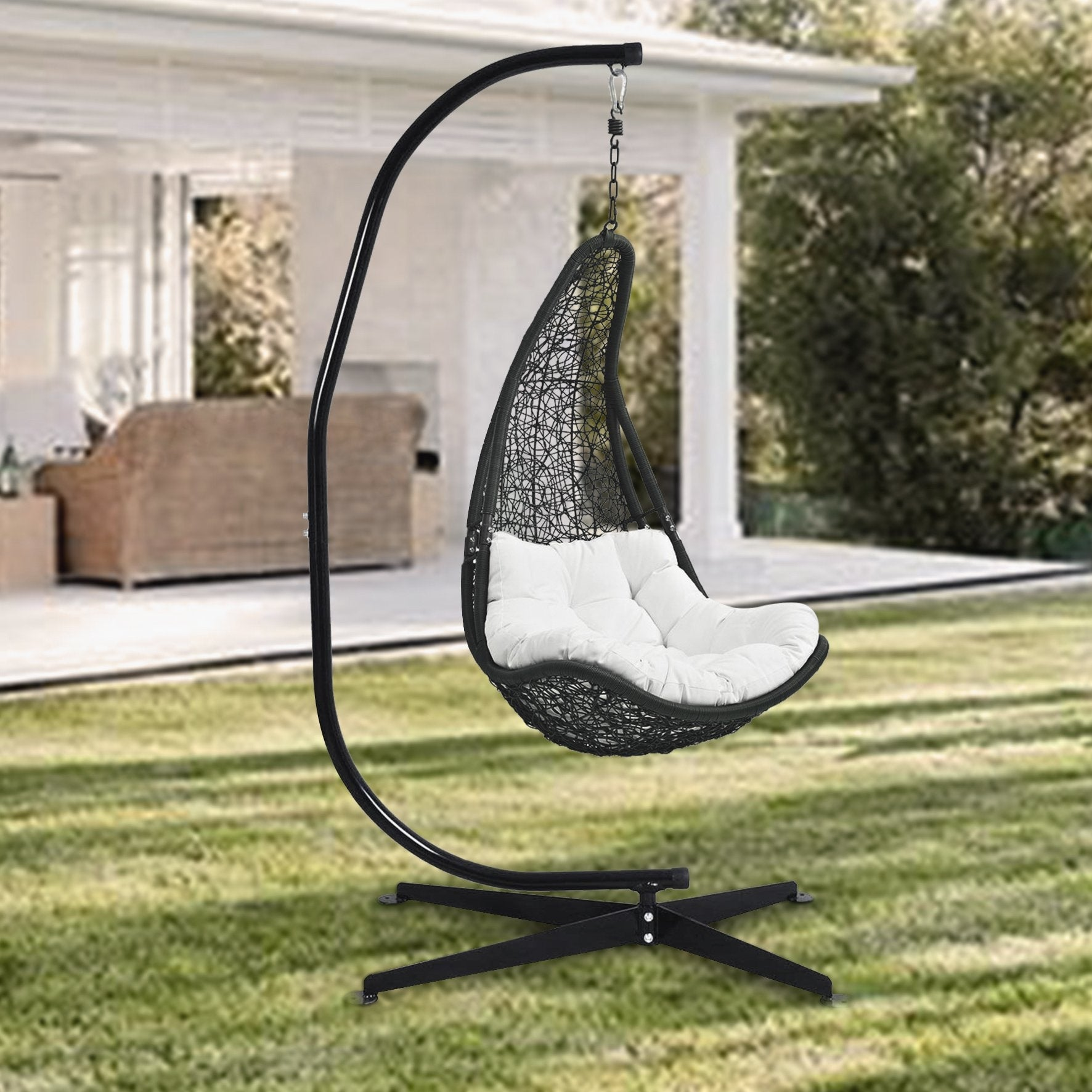 Picture of: Heavy Duty Portable C Stand For Hanging Chair Solid Steel Construction Outdoor Indoor Stand Only Overstock 31623730