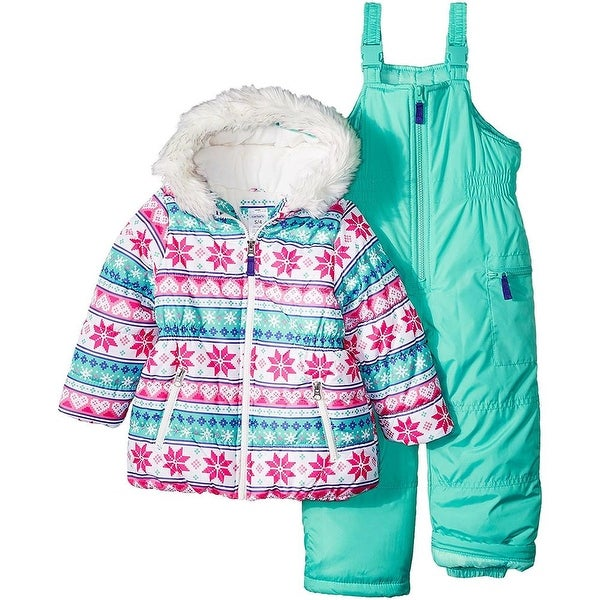 9b253a4ce Shop Carters Girls 4-6X Heavyweight Snowsuit Set - Free Shipping Today -  Overstock - 20600922