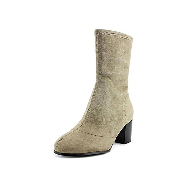 Design Lab Womens Sool Sock Boot Faux Suede Block Heel