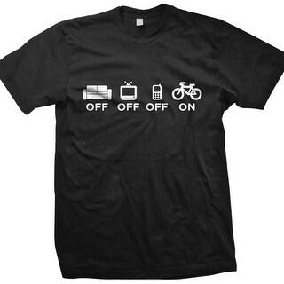 DHD Wear Men's OFF-OFF-OFF-ON MTB Short Sleeve T-Shirt
