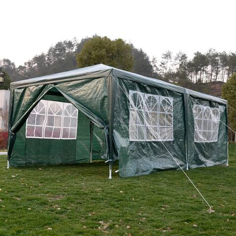 10' x 20' Outdoor Canopy Party Wedding Tent-Green - 10' x 20' x 8' (L x W x H)