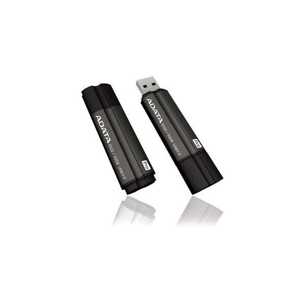 Adata AS102P-32G-RGY Adata 32GB Superior S102 Pro USB 3.0 Flash Drive - Arc-shape - 32 GBUSB 3.0 - Titanium GrayArc-shape