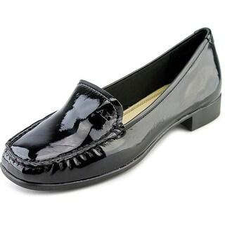 Anne Klein AK Vama Women W Moc Toe Synthetic Black Loafer