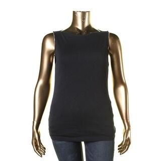Lauren Ralph Lauren Womens Boatneck Cap Sleeves Pullover Top - XL