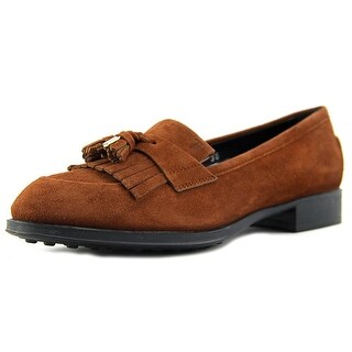 Tod's Mocassino Gomma OE Frangia Nap.Met Leather Moccasins