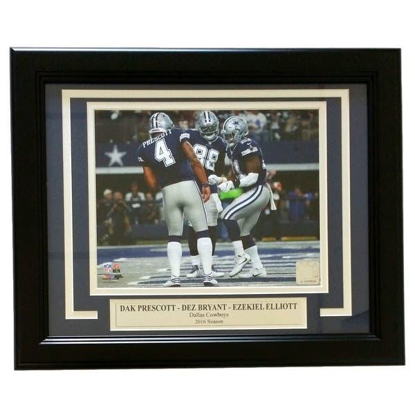 Dak Prescott Ezekiel Elliott Dez Bryant Framed 8x10 Dallas Cowboys Photo