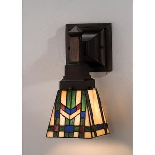 Meyda Tiffany 25894 Stained Glass / Tiffany Down Lighting Wall Sconce from the Prairie Wheat Collection