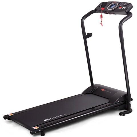 Goplus 1HP Goplus Electric Treadmill Folding Motorized Power Running Fitness Machine