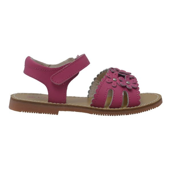 adf652ee4df Shop L Amour Girls Fuchsia Scalloped Flowers Closure Sandals 11-4 Kids -  Free Shipping On Orders Over  45 - Overstock - 25599807