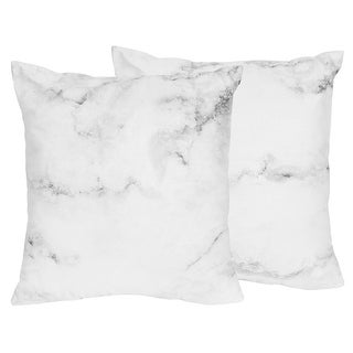 Link to Sweet Jojo Designs Black and White Marble Collection 18-inch Accent Throw Pillows (Set of 2) Similar Items in Decorative Accessories