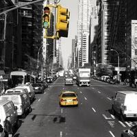 ''Midtown, New York'' by Dominique Obadia Mini-Prints Art Print (11.875 x 11.875 in.)