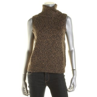 Lauren Ralph Lauren Womens Turtleneck Sweater Wool Metallic
