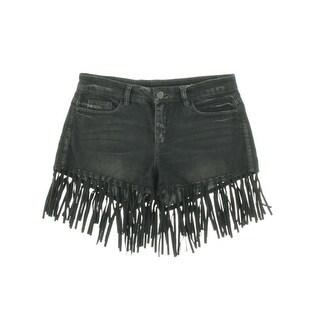 Blank NYC Womens Fringe Denim Casual Shorts - 24