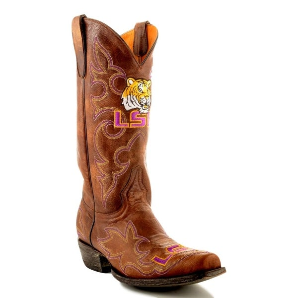 Gameday Boots Mens College Louisiana State Tigers Brass LSU-M003-1